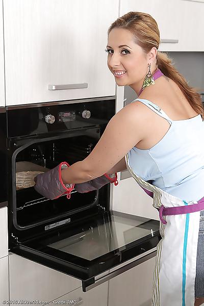 Young housewife Daria Glower..