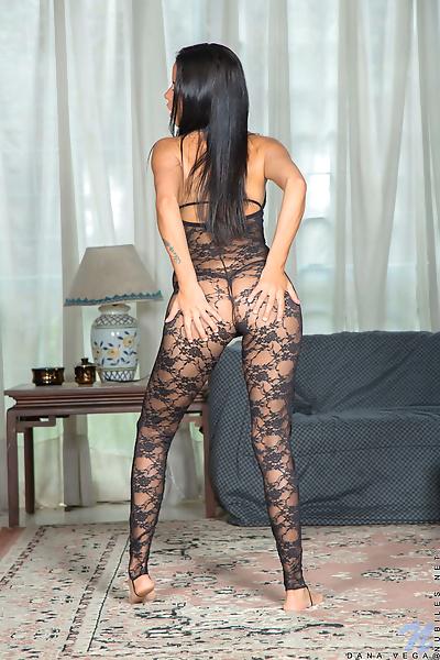 Hot young Dana Vega strips..