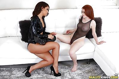 Young interracial lesbian..