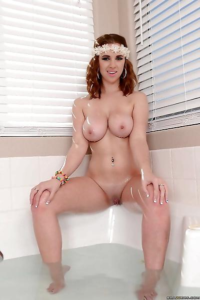 Sweet redhead with big tits..