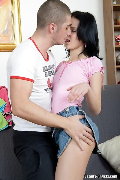 Dark haired teen Yasmin..