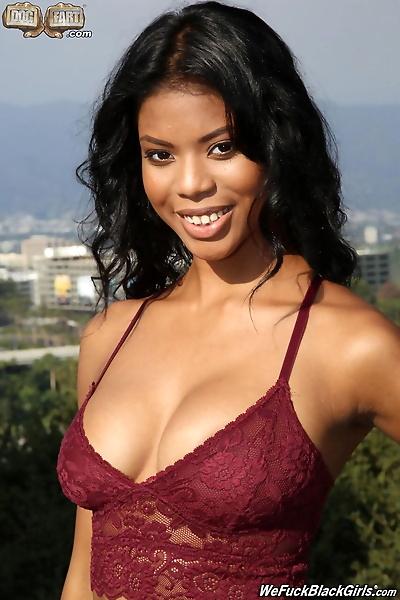Ebony beauty Nia Nacci bangs..